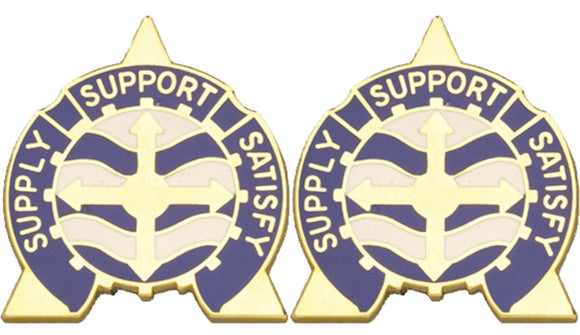 146th Support Battalion Distinctive Unit Insignia - Pair - SUPPLY SUPPORT SATISFY