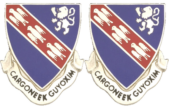 147th Armor Distinctive Unit Insignia - Pair - GARGONEEK GUYOXIM