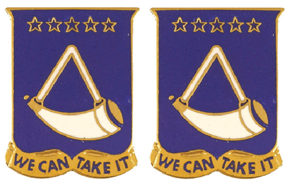 150th Armor West Virginia Distinctive Unit Insignia - Pair - WE CAN TAKE IT