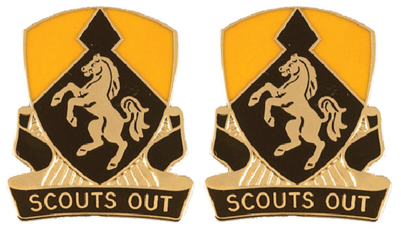 153rd Cavalry Regiment Distinctive Unit Insignia - Pair - SCOUTS OUT