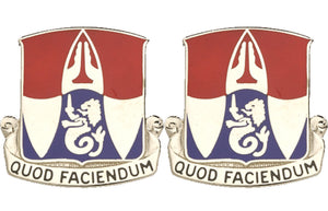 153rd Engineering Battalion Distinctive Unit Insignia - Pair - QUOD FACIENDUM