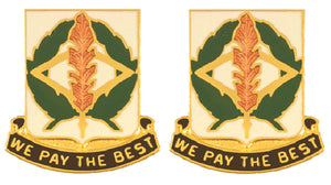 153rd Finance Battalion Distinctive Unit Insignia - Pair - WE PAY THE BEST