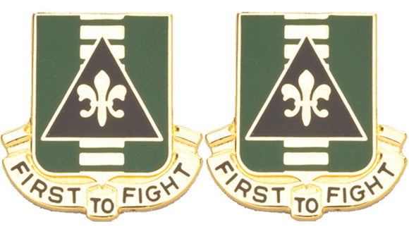 156th Armor Distinctive Unit Insignia - Pair - FIRST TO FIGHT
