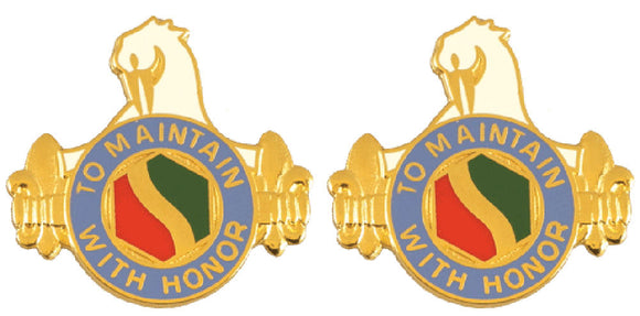 165th Quartermaster Battalion Distinctive Unit Insignia - Pair - TO MAINTAIN HONOR