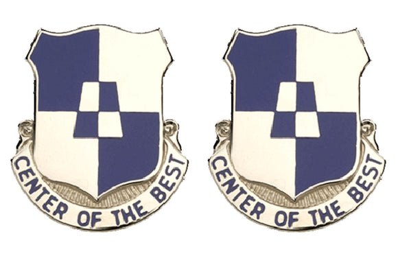 170th Maintenance Company Distinctive Unit Insignia - Pair - CENTER OF THE BEST