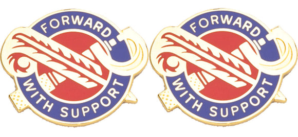 194th Maintenance Battalion Distinctive Unit Insignia - Pair - FORWARD WITH SUPPORT