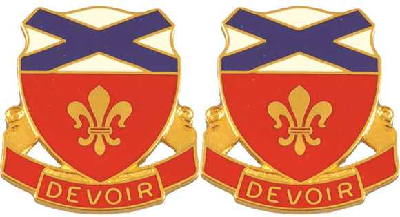 242nd ENGINEER BATTALION Distinctive Unit Insignia - Pair