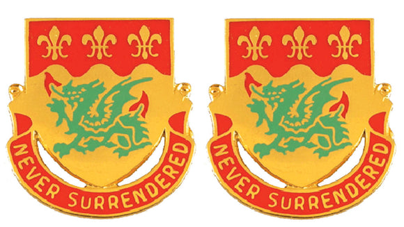 263rd ARMOR BATTALION Distinctive Unit Insignia - Pair