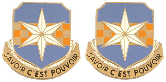 313th MILITARY INTELLIGENCE BATTALION Distinctive Unit Insignia - Pair
