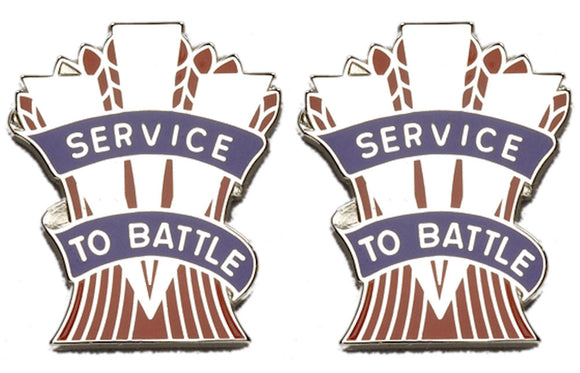 467th QUARTERMASTER BATTALION Distinctive Unit Insignia - Pair - SERVICE TO BATTLE