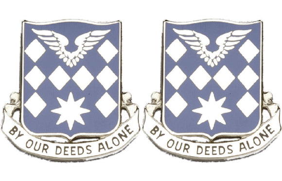 504th AVIATION BATTALION Distinctive Unit Insignia - Pair - BY OUR DEEDS ALONE