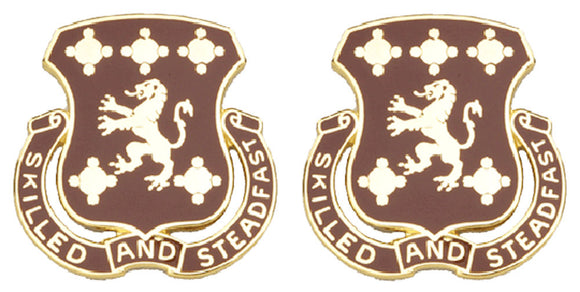704th MAINTENANCE BATTALION Distinctive Unit Insignia - Pair - SKILLED AND STEADFAST
