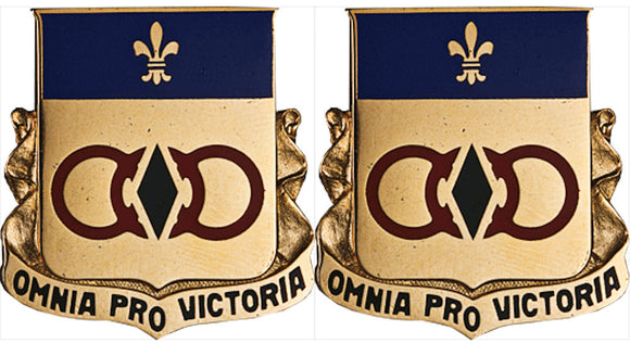 727th MAINTENANCE BATTALION Distinctive Unit Insignia - Pair - OMNIA PRO VICTORIA