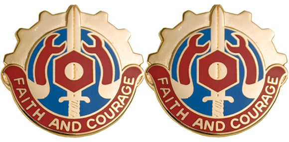 731st MAINTENANCE BATTALION Distinctive Unit Insignia - Pair - FAITH AND COURAGE