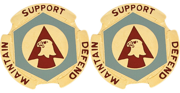 734th MAINTENANCE BATTALION Distinctive Unit Insignia - Pair - MAINTAIN SUPPORT DEFEND