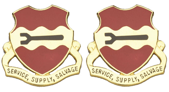 735th MAINTENANCE BATTALION Distinctive Unit Insignia - Pair - SERVICE SUPPLY SALVAGE