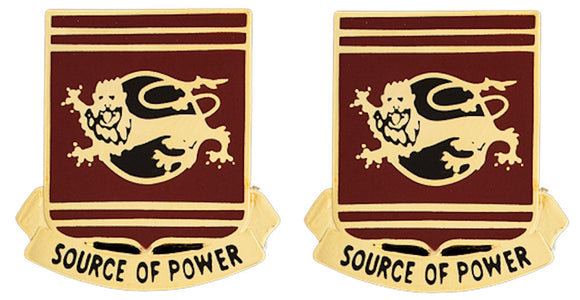 757th TRANSPORTATION BATTALION Distinctive Unit Insignia - Pair - SOURCE OF POWER