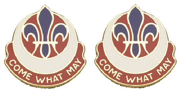 773rd MAINTENANCE BATTALION Distinctive Unit Insignia - Pair - COME WHAT MAY
