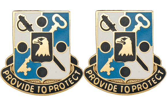 867th QUARTERMASTER BATTALION Distinctive Unit Insignia - Pair