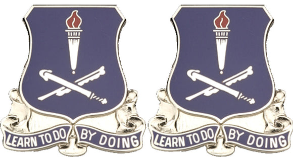 FINANCE SCHOOL Distinctive Unit Insignia - Pair