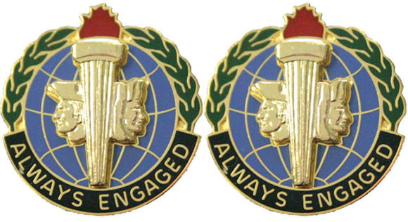 MILITARY INTELLIGENCE READINESS Distinctive Unit Insignia - Pair - ALWAYS ENGAGED
