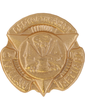 Department of the Army Civilian Retired Lapel Pin