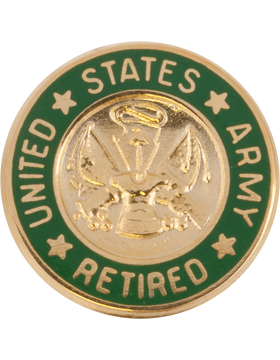 United States Army Personnel Retired Lapel Pin