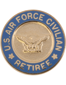 United States Air Force Civilian Retiree Lapel Pin