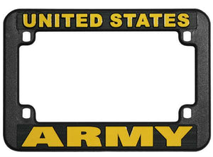 UNITED STATES ARMY Motorcycle License Plate Frame - PLASTIC
