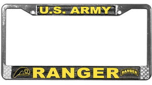 U.S. Army Ranger Metal License Plate Frame