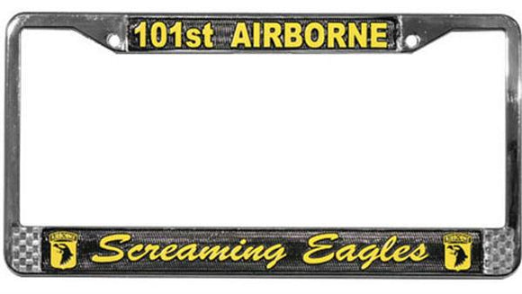 101st Airborne - Screaming Eagles Metal License Plate Frame