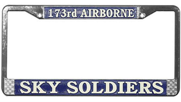 173rd Airborne - Sky Soldiers Metal License Plate Frame