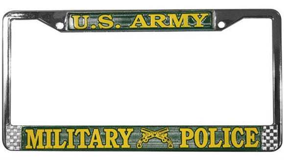 U.S. Army Military Police Metal License Plate Frame