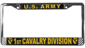 U.S. Army 1st Cavalry Division Metal License Plate Frame