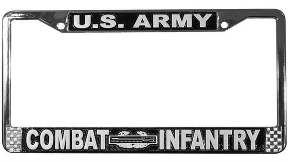 U.S. Army Combat Infantry Metal License Plate Frame