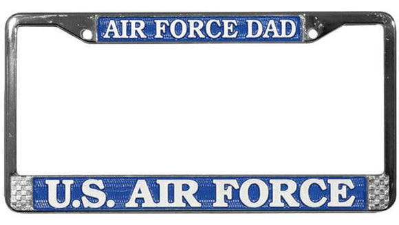 Air Force Dad Metal License Plate Frame