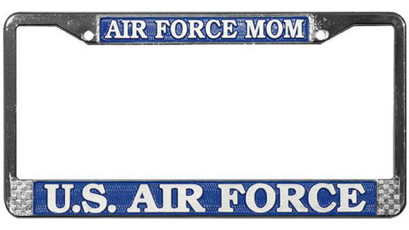 Air Force Mom Metal License Plate Frame