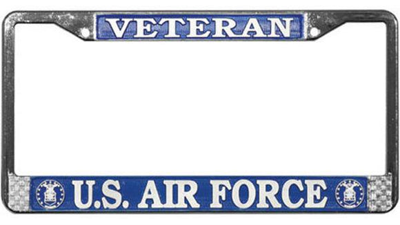 Veteran U.S. Air Force Metal License Plate Frame