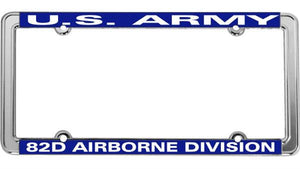 U.S. Army 82nd Airborne Division Thin Rim License Plate Frame