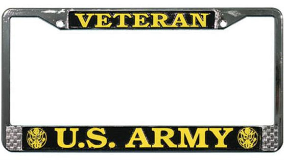 Veteran U.S. Army Metal License Plate Frame