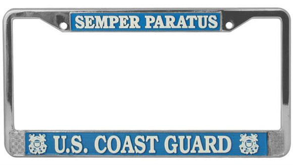 Semper Paratus - U.S. Coast Guard Metal License Plate Frame