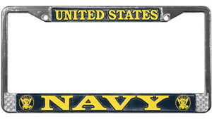 U.S. Navy Metal License Plate Frame