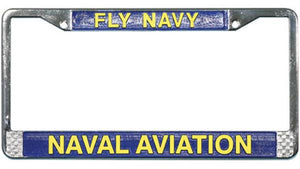 Fly Navy - Navy Aviation Metal License Plate Frame