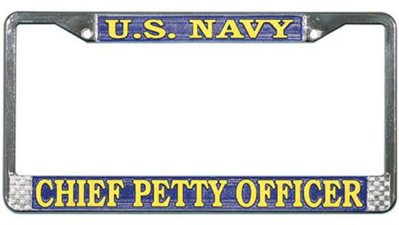 U.S. Navy - Chief Petty Officer Metal License Plate Frame