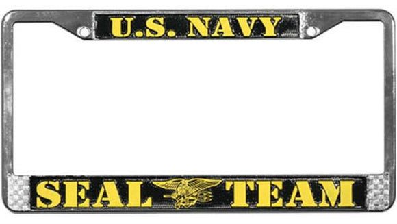 U.S. Navy Seal Team Metal License Plate Frame