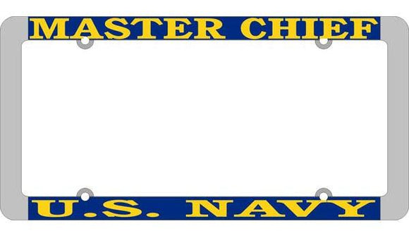 U.S. Navy Master Chief Thin Rim License Plate Frame