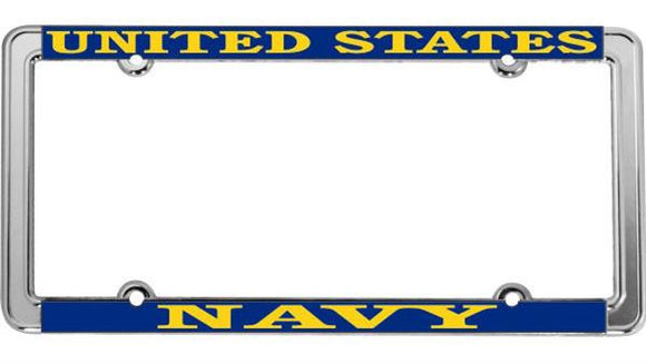 U.S. Navy Thin Rim License Plate Frame