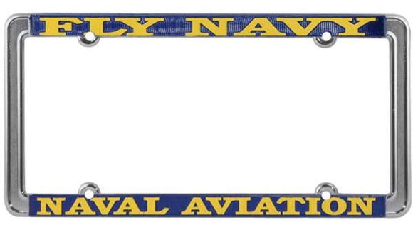 Fly Navy - Naval Aviation Thin Rim License Plate Frame