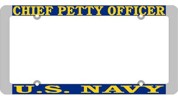 U.S. Navy - Chief Petty Officer Thin Rim License Plate Frame