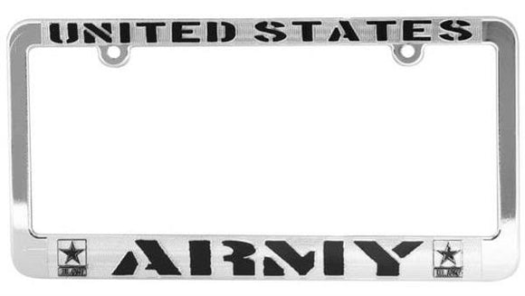 U.S. Army Metalized Plastic License Plate Frame